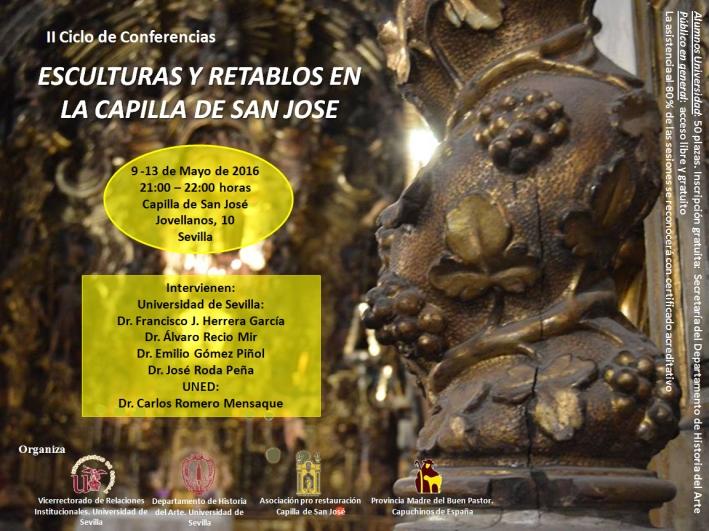 Cartel conferencias mayo. Capilla San José de Sevilla. Turismo en Sevilla, Universidad