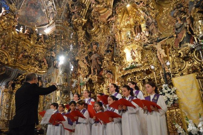 Concierto Capilla San José Sevilla en Abril, Hermandad Estrella. Retablo Barroco
