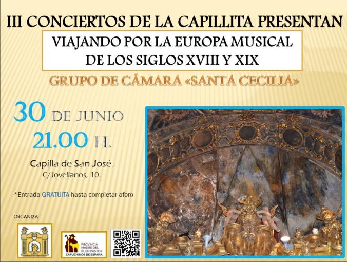Grupo de Cámara Santa Cecilia. Capilla San Jose de Sevilla. sevilla turismo. barroco.