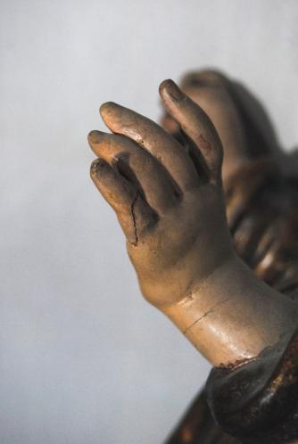 Restauración San José con el niño. Capilla San José de Sevilla. Imagen cedida por Musae.