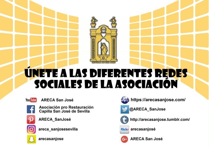 redes sociales areca. restauración. capilla san josé de sevilla