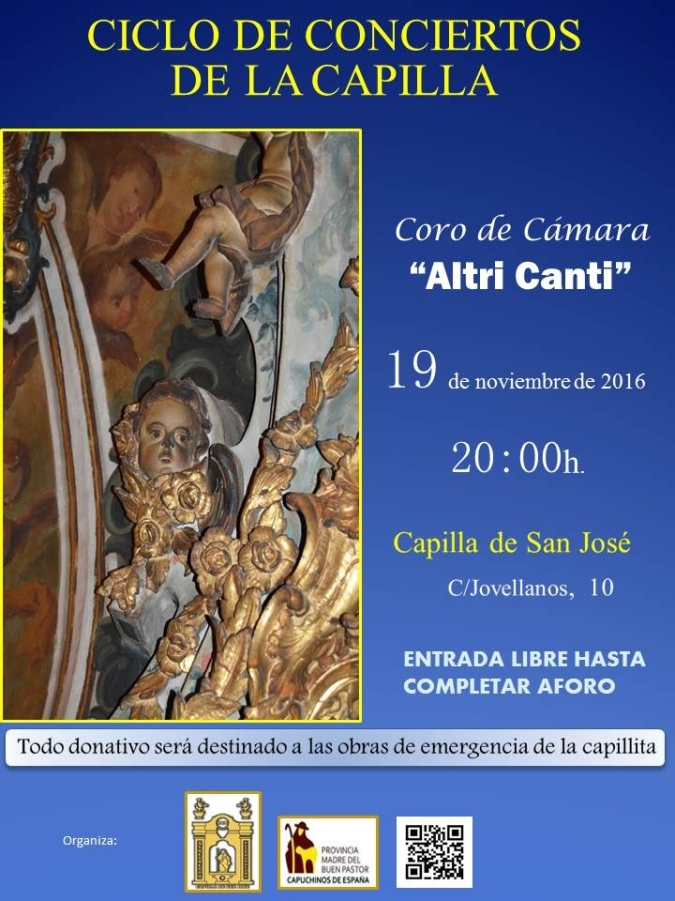 Concierto del Coro de Cámara Altri Canti. Capilla San José de Sevilla.