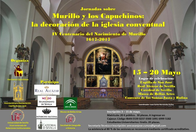 murillo cartel los capuchinos iglesia decoración mayo sevilla turismo